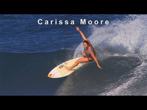 Carissa Moore surfing in Hawaii