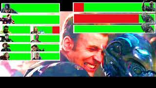 Avengers: Age of Ultron Final Battle with healthbars