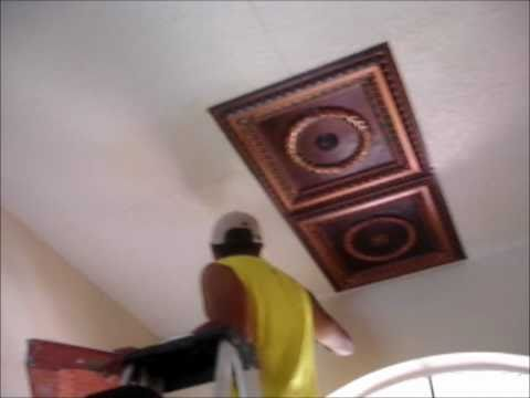 Faux Tin Ceiling Tiles Installation Video