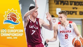 Poland v Latvia - Full Game - FIBA U20 European Championship 2019