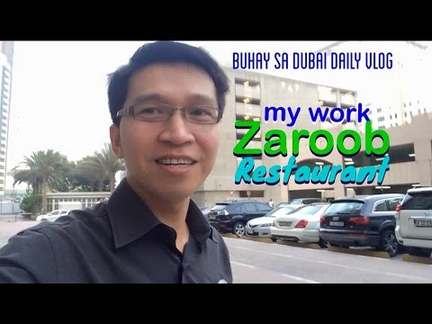 [Buhay sa Dubai Daily Vlog] MY WORK IN ZAROOB RESTAURANT