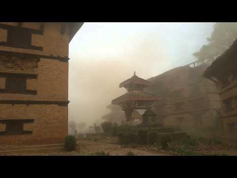 Nuwakot Sattale (7 storey) durbar during earthquak