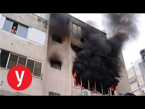 """שריפה בדירה בחיפה – דיווח וריאיון עם כתבנו אחיה ראב""""ד ורמי מרום"""