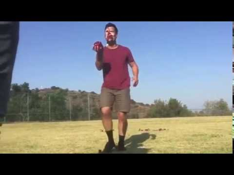 Taylor lautner fruit toss challenge 2016