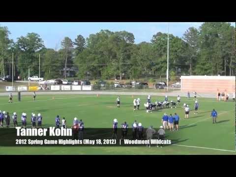 Tanner Kohn Class of 2014 Kicker / Punter (2012 Spring Game - Woodmont High School)