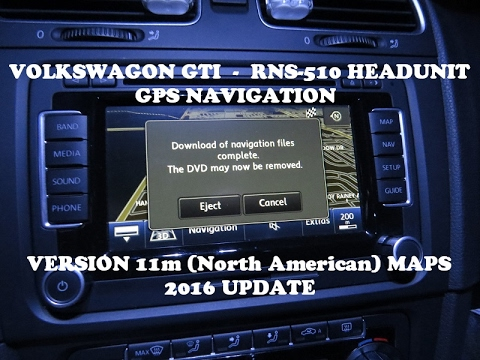 RNS-510 GPS Version 11m (North American) 2016 Map Update