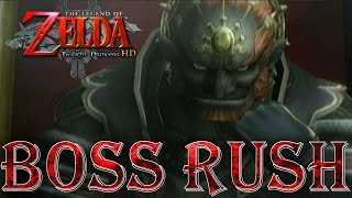 Zelda: Twilight Princess HD - All Bosses on Hero Mode (No Damage)