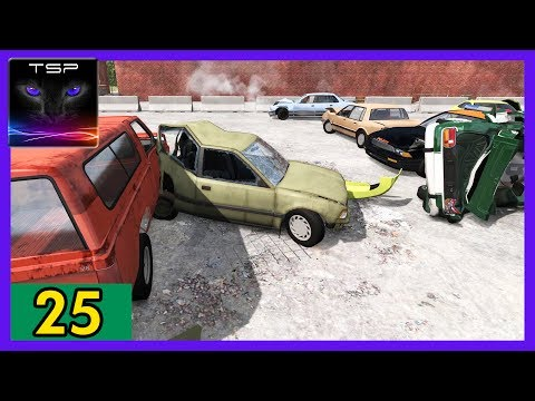 BeamNG drive - Demolition Derby #25 - Compact Car (FF Drive)