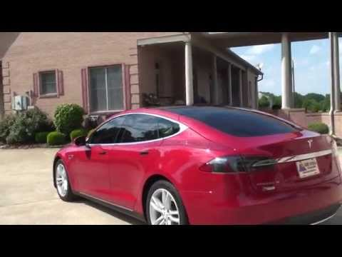 HD VIDEO 2013 TESLA MODEL S 60KW USED FOR SALE ELECTRIC CAR SEE WWW SUNSETMOTORS COM