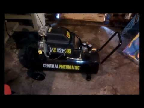 Air compressor oil change. Harbor Freight. Central Pneumatic