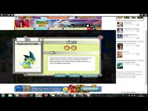 Dragon City Nuevos Dragones Doble Tierra AguaFuego..