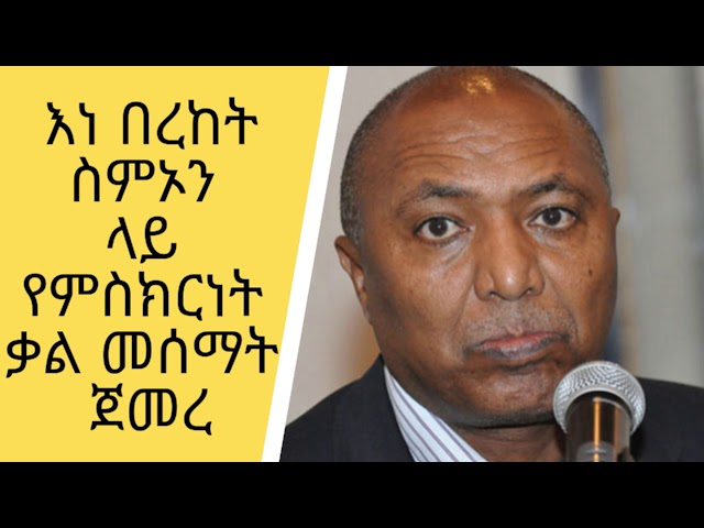 A Testimony began On The Case Of Bereket Simon And Tadesse Kasse