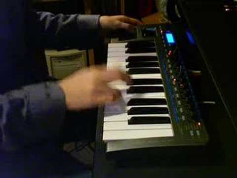 novation xiosynth - improvised synth solo