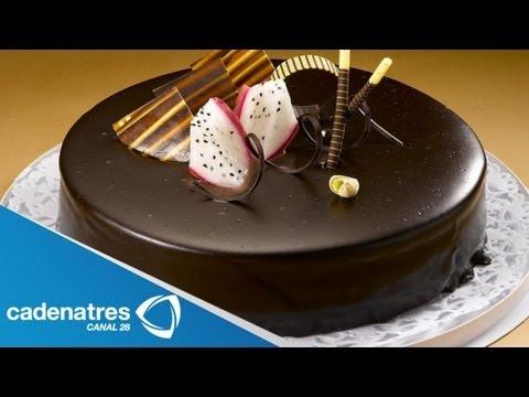 Pastel de Queso con Chocolate y Fresas / Receta de pasteles / Pasteles de chocolate
