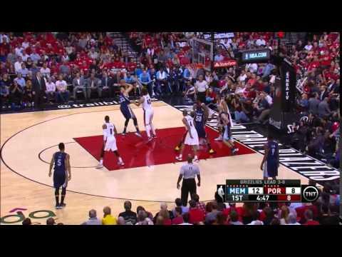 NBA, playoff 2015, Trail Blazers vs. Grizzlies, Round 1, Game 4, Move 5, Marc Gasol, 2 pointer