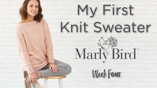 My First Knit Sweater Knit-along Week 4
