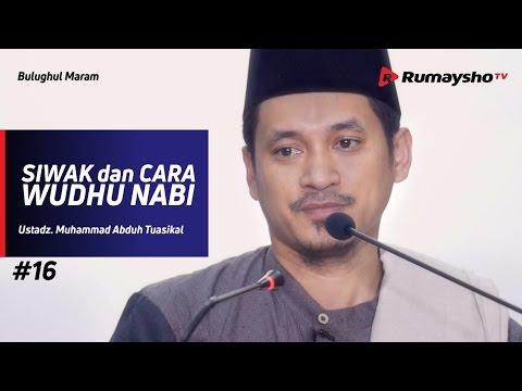 Bulughul Maram (16) : Siwak Dan Cara Wudhu Nabi - Ustadz M Abduh Tuasikal