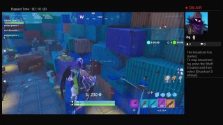 FORTNITE  LIVE PS4 EPIC STREAM DUOS