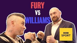 Fury v Williams: Boxing's superstar takes on music's heavyweight in ultimate quiz | BBC Sport