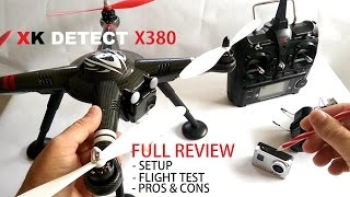 XK Detect X380 GPS QuadCopter Drone Full Review - [Setup, Flight Test, Pros & Cons]