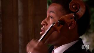 The royal wedding of Prince Harry and Meghan Markle - Cello performance by Sheku Kanneh-Mason (HD)