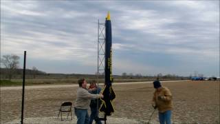 Giant 12 foot rocket launch