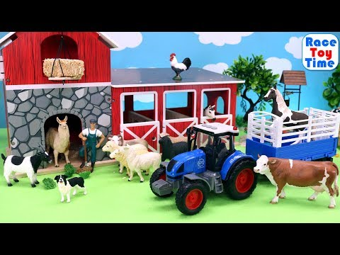Toy Farm Animals in the Barn - Fun Animal Toys For Kids thumbnail