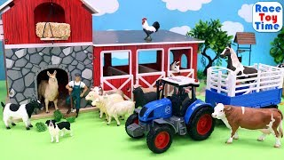 Toy Farm Animals in the Barn - Fun Animal Toys For Kids