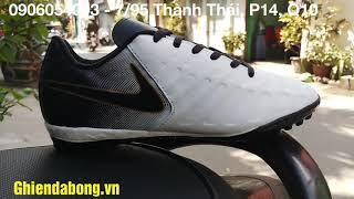 Giày đá bóng Tiempor Da mềm màu trắng giá rẻ