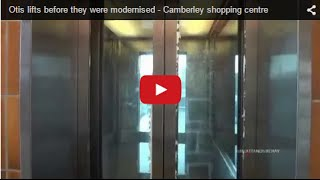 Otis lifts before they were modernised - Camberley shopping centre