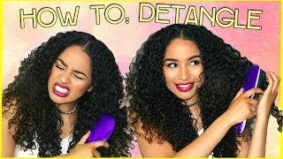 HOW TO DETANGLE CURLY HAIR - Minimum Breakage + MAX HAIR GROWTH