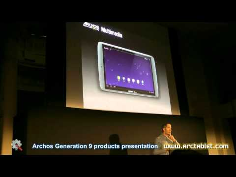 Archos G9 Tablets and Archos Home at Gen9 presentation (full video)