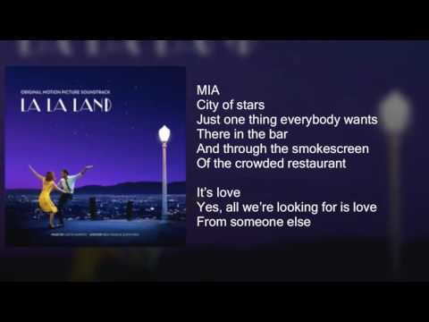 La La Land - City of Stars DUET - Lyrics