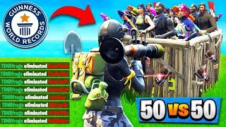 WORLD RECORD KILLS? in 50v50 V2! (21 Solo Kills) Fortnite: Battle Royale