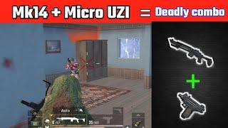 Mk14 + UZI = the deadliest combo of Pubg   Pubg mobile lite solo gameplay