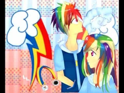 Rainbow Blitz x Rainbow Dash Human Rainbow Dash x Rainbow Blitz