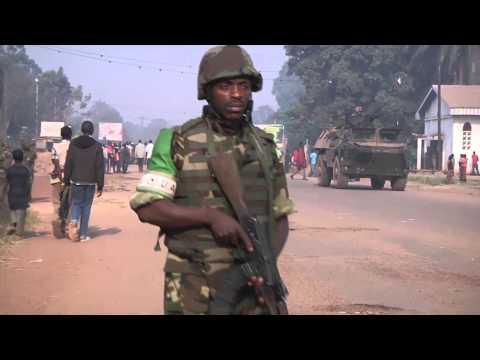 Opération Sangaris : patrouille mixte avec la MISCA