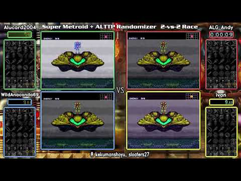 Super Metroid A Link to the Past Randomizer 2v2 Showcase Race
