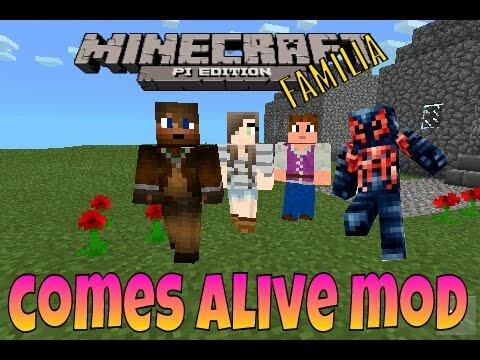 Comes alive familia mod para minecraft pe 0.9.5