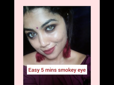 Easy smokey eye tutorial | My Top 5 Nude Lipstick video Eye Look | Janaki Krishnan