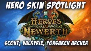 Heroes of Newerth Skin Spotlight - Sniper Scout, Cyber Valkyrie, Clockwork Forsaken Archer