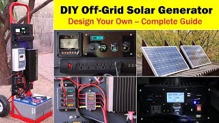 High-Capacity Off-Grid Solar Generator (rev 4) -- Wiring Diagram, Parts List, Design Worksheet