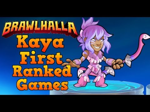 IT'S THE REAL CROCKIE! - Brawlhalla NEW LEGEND KAYA | Kaya First Ranked Games