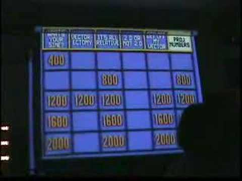 Physics Jeopardy: Vectors and Projectile Motion part 2