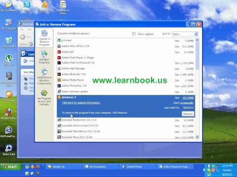 Class 14 how to uninstall programs in window xp Urdu, Hindi English