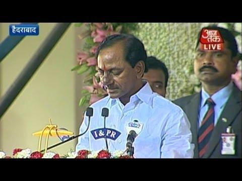 K Chandrasekhar Rao takes oath as first CM of Telangana