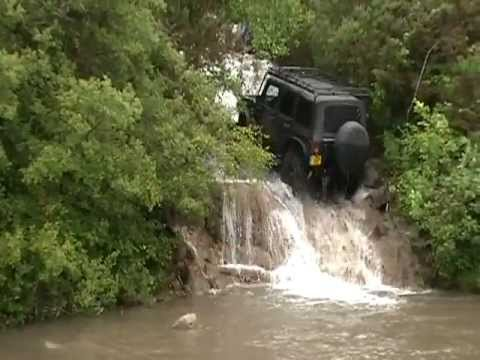 Jeep Jk Drives Up Waterfall Youtube