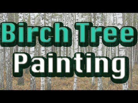 Birch Tree Painting - Steve's Art Studio