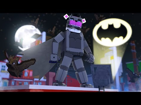 Funtime Freddy Becomes Batman! Minecraft FNAF Roleplay