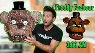 (HE CAME TO MY HOUSE?!) 3 AM GIANT FREDDY FAZBEAR CHOCOLATE DIY | FREDDY FAZBEAR HATES CHOCOLATE?